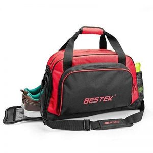 BESTEK Sport Gear Equipment Gym Duffle Bag Travel Luggage Shoulder Handbag Cabas de Fitness, 46 cm, Rouge (Red) de la marque BESTEK image 0 produit