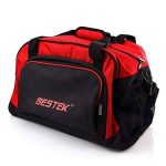 BESTEK Sport Gear Equipment Gym Duffle Bag Travel Luggage Shoulder Handbag Cabas de Fitness, 46 cm, Rouge (Red) de la marque BESTEK image 3 produit